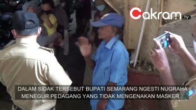 Bupati Semarang Tegur Pedagang yang Tidak Pakai Masker Saat Sidak di Pasar Tradisional